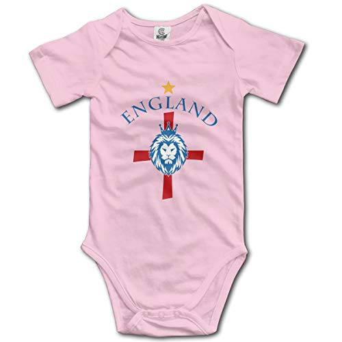 England World Cup Soccer Baby Onesies,Unisex Solid Multicolor Baby Bodysuits 0-24 Months