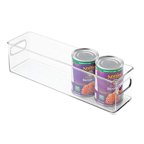 iDesign 70430 Plastic Refrigerator and Freezer Storage Bin, BPA-Free Organizer for Kitchen, Garage, Basement, Small, Clear