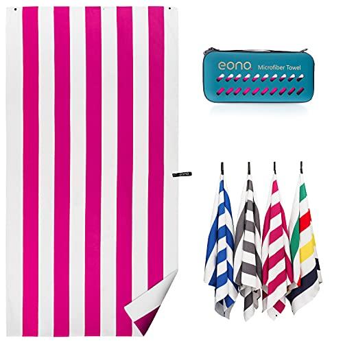 Amazon Brand - Eono Telo mare, Compatto, leggero, ad asciugatura rapida, Extra large, da...