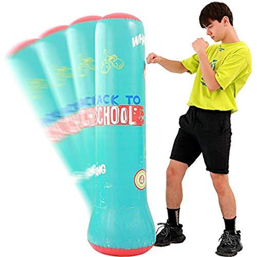 WeiX Aufblasbarer Boxsack,sandsack,freistehender Boxstand Beutel Freistehende Tumbler-Säule für die Kombination von Fitness und Unterhaltung 160 cm