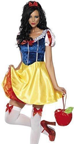 Fancy Me Damen Sexy Schneewittchen Prinzessin Büchertag Woche Märchen Junggesellinnenabschied Halloween Party Kostüm Verkleidung Outfit UK 4-18 - Multi, Multi, 12-14
