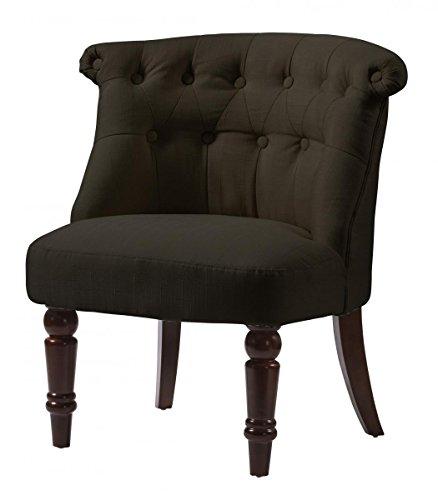 Alderwood Silla de tela marrón, juego de 2 sillas, 640 x 680 x 710 H, muebles de salón