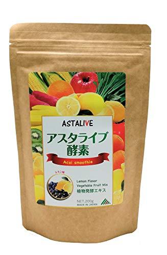 おいしいっ スムージー ASTALIVE (アスタライブ) 酵素 スムージー チアシード 乳酸菌 穀物麹 入り レモン味 200g (1)