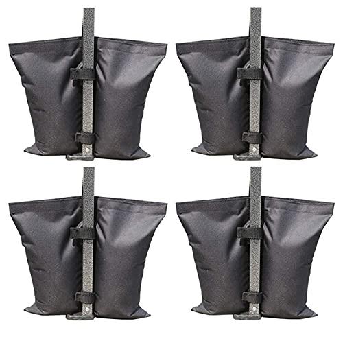 ZPFQFC 4 stücke Outdoor Sand Tasche, Baldachin Zelt Gewicht Tasche für Pop Up Baldachin Schwere Sandsack für Hinterhof, Terrasse im Freien, Sport Schwarz