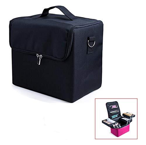 XINYIZI grote ruimte opslag Beauty Box make-up nagel sieraden cosmetische ijdelheid geval, make-up organisator nagellak sieraden cosmetische doos schoonheid Vanity Case,29 * 21 * 27CM