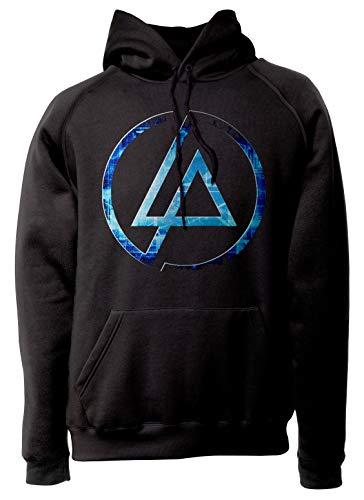 LaMAGLIERIA Unisex-Hoodie Linkin Park Futuristic Logo - Kapuzenpullover Metal Rock Band, S, Schwarz