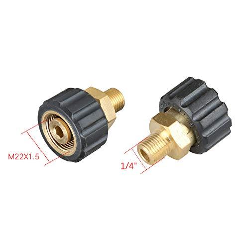 T&F - Verbindungsstücke für Hochdruckreiniger in 14mm Steckerkern, Größe 1/4