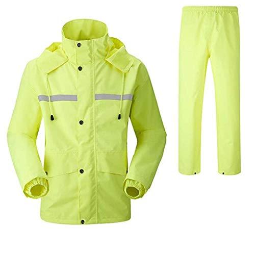 DongYuYuXuXi Raincoat regenbroekpak dikker dubbelwaterdicht motorfiets regenjas poncho grote vissen pak regenkleding mannen en vrouwen Large groen
