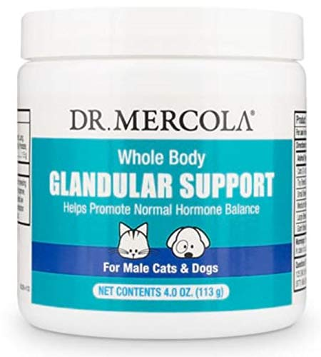 Dr. Mercola Whole Body Glandular Support for Pets - Male, 4 oz, Non GMO, Soy Free, Gluten Free