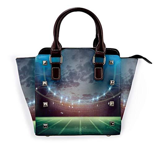 BROWCIN Grüne Aktivität Fußball Rendering 3D-Texturen Sport Erholung Fußballtor Vibrant Arena Ball Best Abnehmbare mode trend damen handtasche umhängetasche umhängetasche