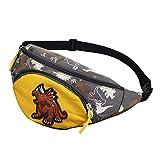 Monedero de la Moda al Aire Libre Monedero de los niños Bolso de la Cintura del Bolso del Pecho del Bolso de Crossbody Portable Paquete de la Cintura del Dinosaurio para los niños (Amarillo)
