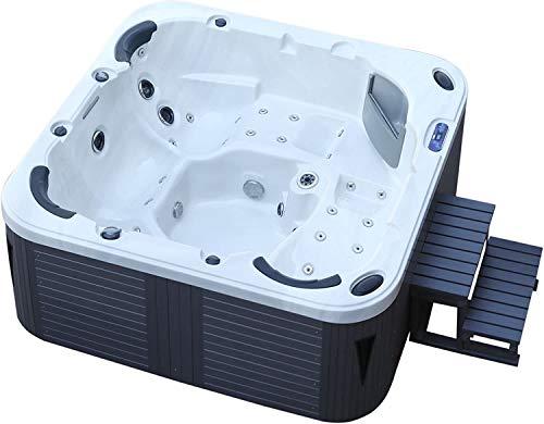 DEKO VERTRIEB BAYERN XXL Luxus SPA LED Whirlpool Set 215x215 Farblicht Outdoor Indoor Pool 5 Personen inkl. Spedition
