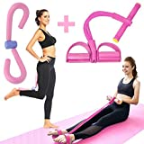 Thigh Exerciser & Pulling Trimmer Tension Rope, Multi-Function Foot Chest Pedal Resistance Band for...