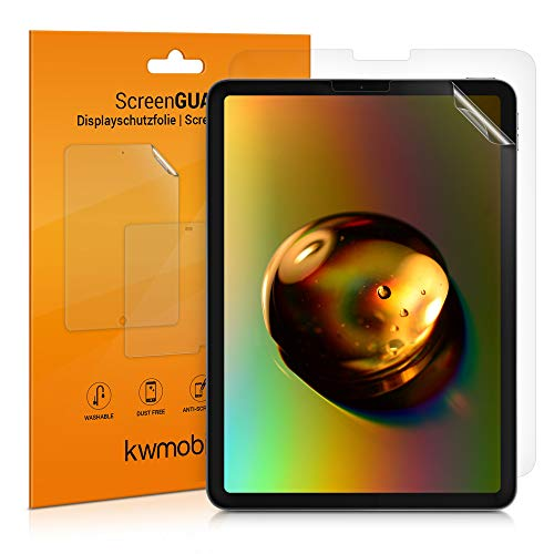 kwmobile 2X Folie kompatibel mit Apple iPad Air 4 (2020) - Full Screen Tablet Schutzfolie klar