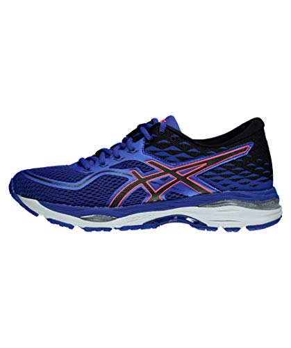 Asics Gel-Cumulus 19 2A Mujeres Running Trainers T7C6N Sneakers Zapatos (UK 3 US 5 EU 35.5, Blue Purple Black Flash Coral 4890)
