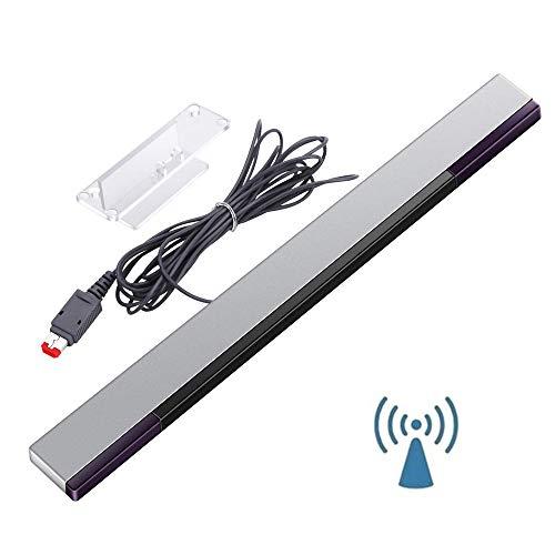 Dayxi Infrarot Sensor Bar für Nintendo Wii / Wii U, Konsole Signalempfänger Infrarot Bewegungsmelder Bar mit 1 Halterung – Videospiele (Silber)