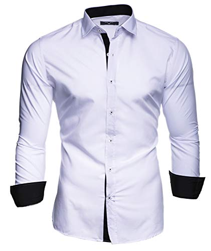 Kayhan Hombre Camisa, TwoFace White L