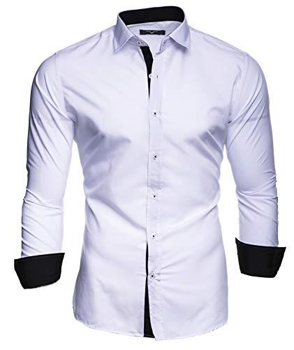 Kayhan Herren Hemd, TwoFace Weiss M
