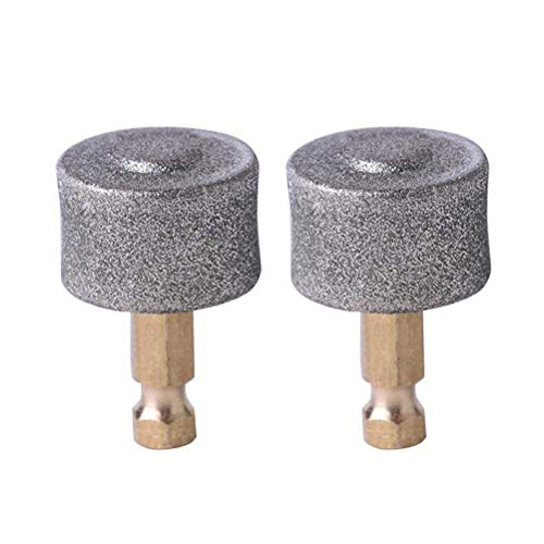 Casifor 2 Pack Dog Nail Grinder Wheel Replacement Filing Heads, Painless & Safe Diamond Tip Grinding Wheel Replacement Dog Nail Grinder