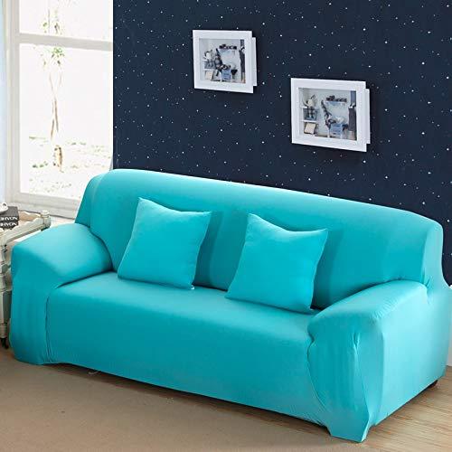 Funda de sofá de Color sólido para Sala de Estar Blanca como la Nieve, Funda de sofá elástica a Prueba de Polvo, Funda de sofá, Toalla elástica para sofá A10, 4 plazas