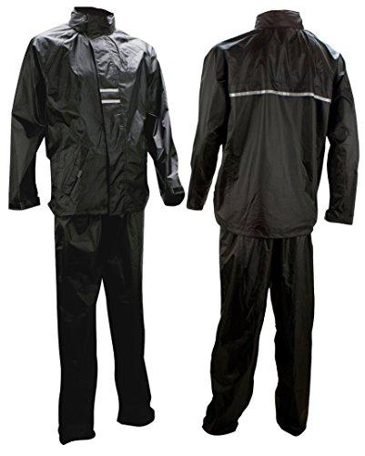 Ralka Inklusive Regenjacke und Regenhose Regenanzug, Schwarz/Anthrazit, XL