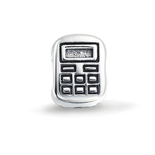 Boekenhouder boekenhouder Mathe Student Calculator Charm Bead Charms voor dames Sterling zilver past Europese armband