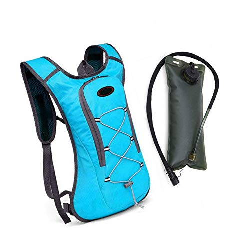 MISS KANG Mochila Impermeable Hidratación Bolsa de vejiga Sport Water 2L con Azul para Ciclismo Senderismo Camping Qingchunw