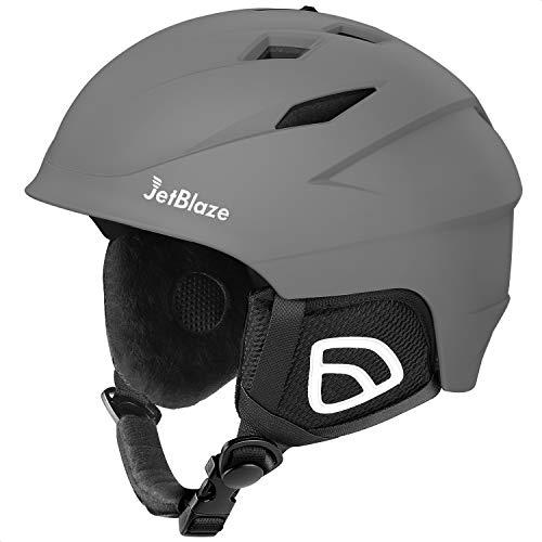 JetBlaze Ski Helmet, Snow Sports Helmet, Snowboard Helmet for Men Women Youth