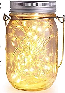 3 Pieces Solar Lamps for garden -30 LED Wine Bottle Light Waterproof Solar Mason Jar String of Lights in the Glass, Garden...