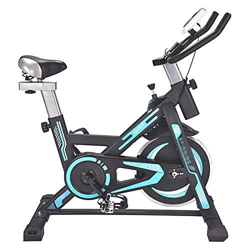 DJDLLZY Bicicleta estática, Ciclismo Indoor bicicleta estacionaria, Vuelta de la bici de entrenamiento Inicio Cardio con Silencioso Sistema de freno magnético, cómodo cojín del asiento y del volante p
