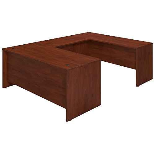 Bush Business Furniture Series C Elite 72W x 30D U Station Desk Shell in Hansen Cherry