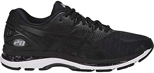 ASICS Men's Gel-Nimbus 20 Running Shoe, Black/Sulphur Spring/Victoria Blue 6 D US