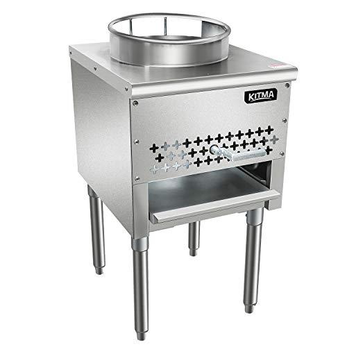 Kitma 13' Gas Wok Range - Commercial Liquid Propane Cooking Performance Group - Restaurant Equipment, 95,000 BTU