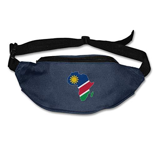 Jiaojiaozhe Namibia Flag Africa Map Runner's Pack Bag Running verstelbare riem Hip Bum Bag, taille Pack