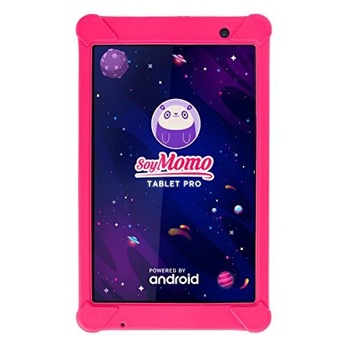 SoyMomo Tablet Pro - Tablet Infantil con Control Parental e Inteligencia Artificial   Tablet para niños con WiFi Bluetooth 8 Pulgadas 32GB ALM. 2GB RAM Cámara   Tablet niños con Funda (Rosa)