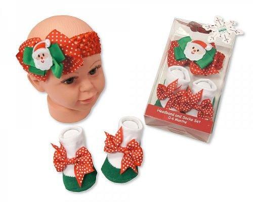 Bébé Bandeau et chaussettes Set – Santa