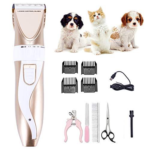 PETVE Tosatrice Professionale per Cani Gatto, Tosatrice per Cani, Tosatrice Cani Tosatrici Professionali per Cani Gatti, Lame Ricaricabili elettriche Senza cordone per Animali a Bassa rumorosità