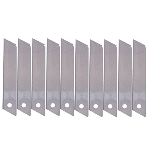 Exing 10 Pcs/Boîte Lames de Remplacement Cutter Snap Off 18mm Céramique Utilitaire Lames de Couteau