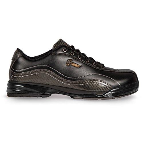 KR Strikeforce Men's Hammer Performance Left Handed Bowling Shoes, Black/Carbon, Size 11.5