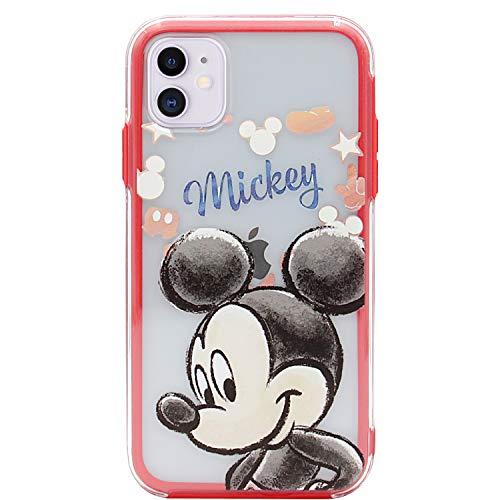2 X Coque iphone 11, Mickey Souple Minnie Transparent TPU Housse Étui Pour iphone 11
