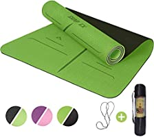 "ShapEx Large Yoga Mat (72""x26.5""Inch) Thick Yoga Mat ¼ Inch Thickness Non Slip,Anti-Tear,Sweat-Proof,Eco Friendly..."
