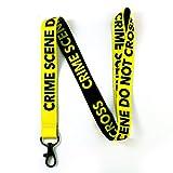 RockNerdy - The Original Crime Scene Do Not Cross Reversible Lanyard Keychain w/ Metal Clasp - Forensic ID Lanyard for Keys Badge Name Tag - ID Holder Keychain for CSI Fan Men Women Kids (1 Lanyard)