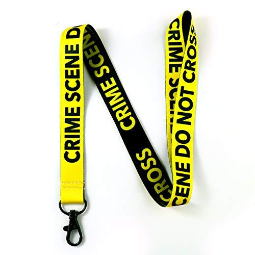 'Crime Scene Do Not Cross' Reversible Lanyard