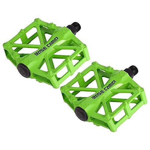 ZJchao Pedales para Bici BMX Bicicleta de montaña MTB Ciclismo de Carreras Ultraligero Pedal de aleación (Verde)