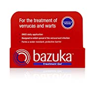 Bazuka Treatment Gel From the UK's No.1 selling verruca and wart treatment range* Clinically proven, pain-free gel Once daily application with no fuss and no plasters necessary Dries to form a water-resistant, protective barrier to reduce the spread ...