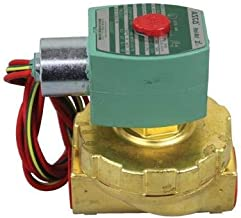 ASCO 8220G407 -24/60 Brass Body Hot Water and Steam Pilot Operated Diaphragm and Piston Valve, 50 psi Maximum Steam Operating Pressure, 3/4