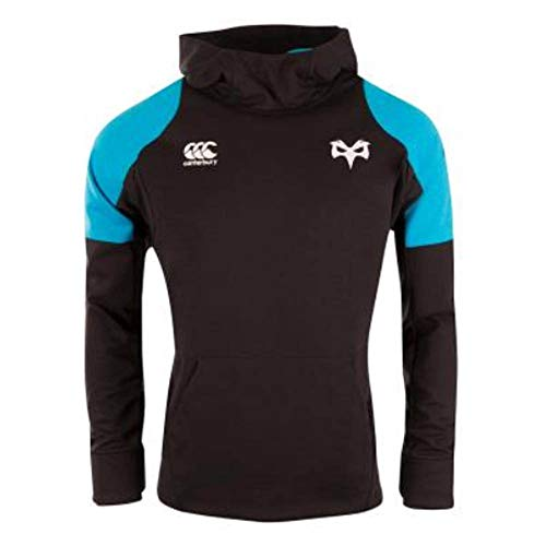 Canterbury 2018-2019 Ospreys Rugby Vaposhield Hybrid Hoody (Black)