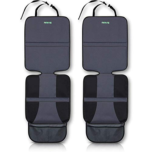 Drive Auto Products Car Seat Protectors (2-Pack, Black + Old Neoprene Backing)