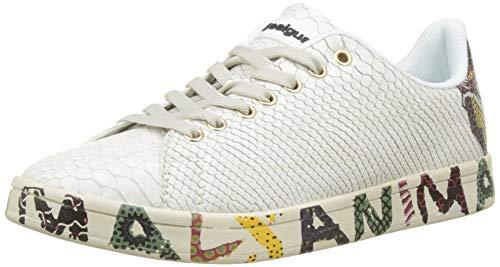 Desigual Shoes_Cosmic Animal, Zapatillas para Mujer, Blanco (Blanco 1000), 40 EU