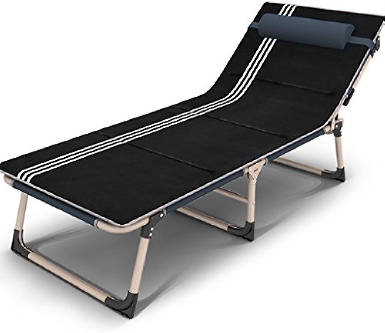 Zcxbhd Liegestühle Salon Stuhl Falten Bett Büro Tragbar Nickerchen Bett Lager Bett Stuhl Einfach Begleitet Single Bett (Farbe   E)